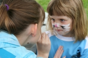 Many kids enjoyed the free face painting. Photo Erin Perkins.